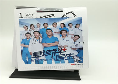 Monthly Table Calendar Printing Services YH9 13 Pages Emboss Hot Stamping